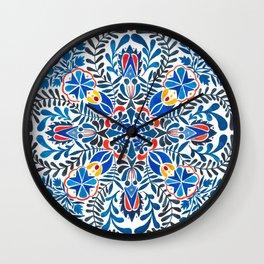 Blue-red mandala Wall Clock
