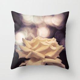 Sexy White Rose Throw Pillow