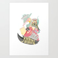 the spaces eater Art Print