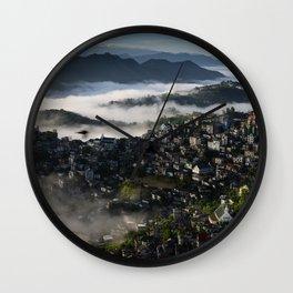 Mountains City Landscape Wall Clock