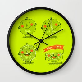 Lime emotions  Wall Clock