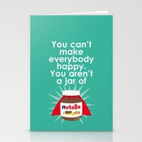 nutella Stationery Cards featuring Nutella fan poster. Nutella quote by Owlyprint