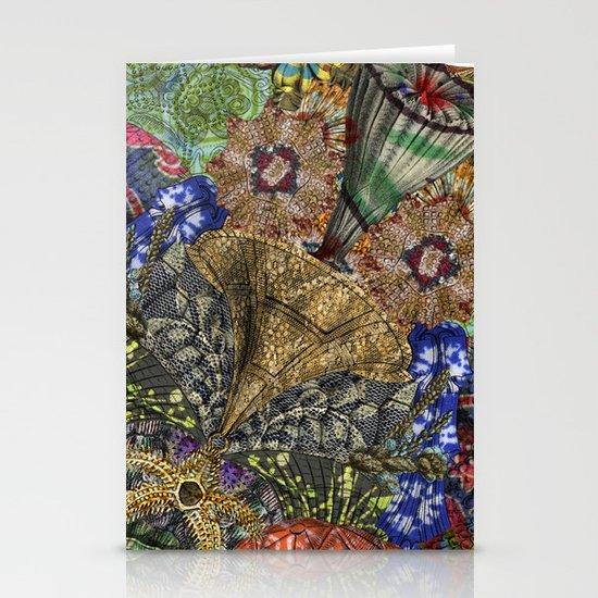 Psychedelic Botanical 4 Stationery Cards