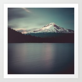 Sunset at Trillium Lake Art Print