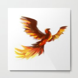 Flying Phoenix Metal Print