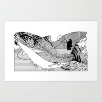 trout Art Prints featuring Trout by David Chestnutt