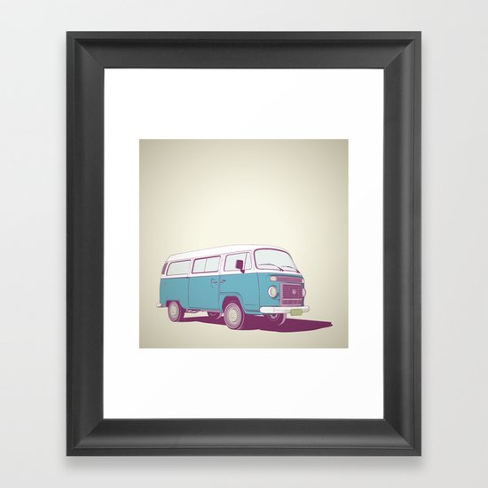 VW Combi v.02 Framed Art Print