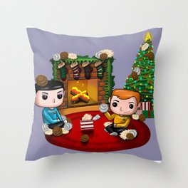 The Trouble with Christmas Throw Pillow