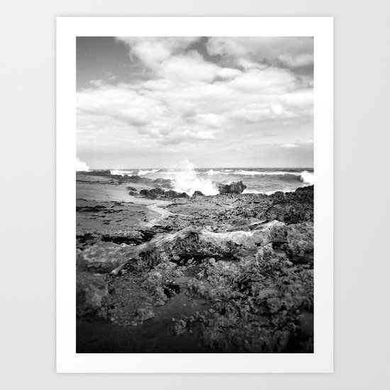 Rough - Black and White Art Print