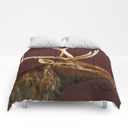 Big Bull Elk Profile Comforters
