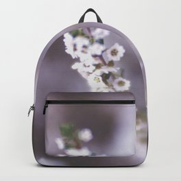 The Smallest White Flowers 02 Backpack