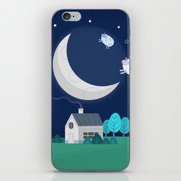 What The Sheep Do While You Sleep iPhone Skin