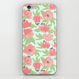 Watercolor Blooms iPhone Skin