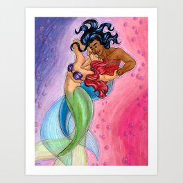 Mergirlfriends Art Print