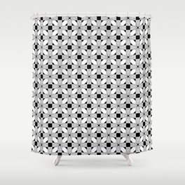 Black and White Deco Modern Shower Curtain