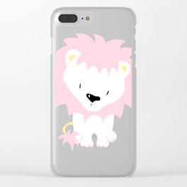 Pink Lion Clear iPhone Case