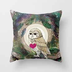 The Great Owl Throw Pillow