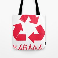 karma Tote Bags featuring KARMA by ARTITECTURE