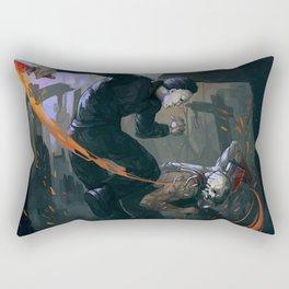 Myers versus Trapper Rectangular Pillow