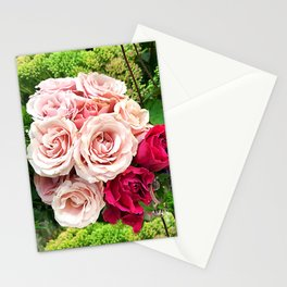Roses_Bouquet of Red Roses_Bunch of Roses Stationery Cards
