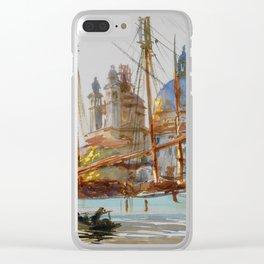 "John Singer Sargent ""The Church of Santa Maria della Salute, Venice"" Clear iPhone Case"