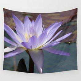 Purple Waterlily Wall Tapestry