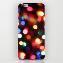 Colored Christmas Lights (2) iPhone Skin