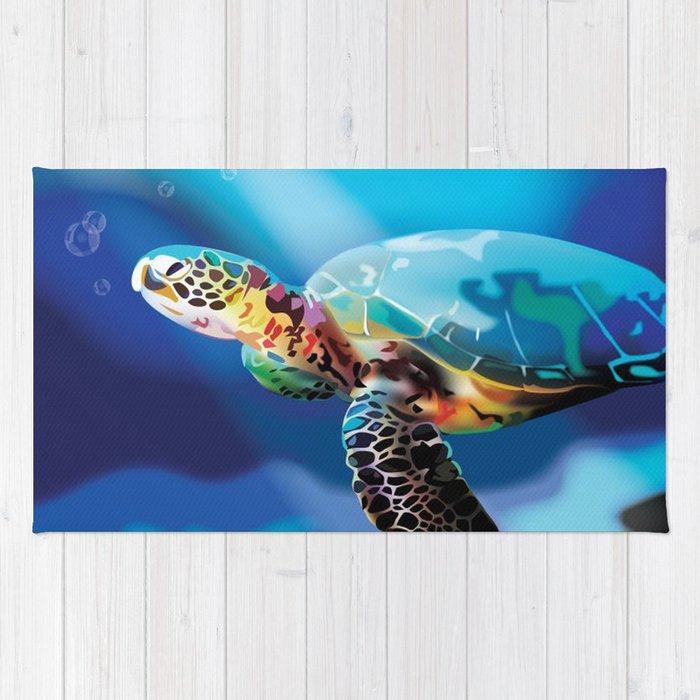 Sea Turtle Rug By Natashaalexandra