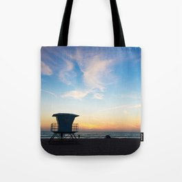 Sunset Over California Tote Bag