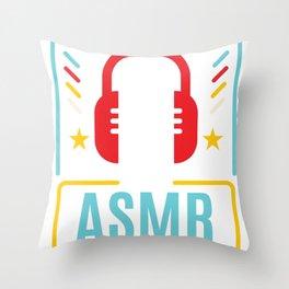 ASMR product I Autonomous Sensory Meridian Gift Throw Pillow