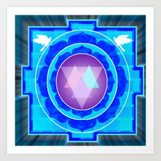 Yantra Red Eye Art Print
