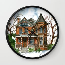 Victorian Winter Wall Clock