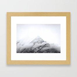 Snowy Mountain Tops // Himalayas // Nepal Framed Art Print
