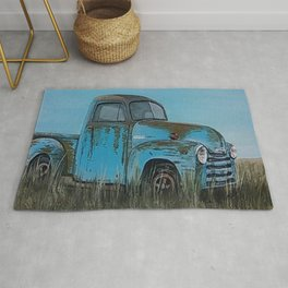 Old Blue Chevy Rug
