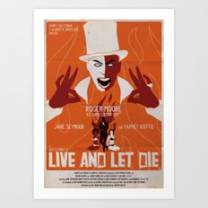 LIVE AND LET DIE POSTER Art Print