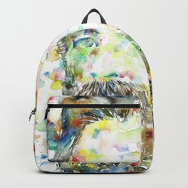 HERMAN MELVILLE - watercolor portrait.1 Backpack