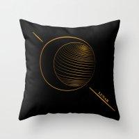 lunar Throw Pillows featuring Lunar  by Cletomckillop