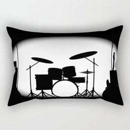 Half Tone Rock Band Poster Rectangular Pillow