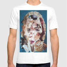 SHATTERED VISAGE Mens Fitted Tee White SMALL