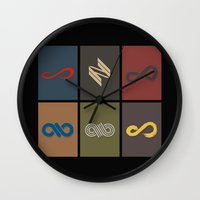 infinite Wall Clocks featuring Infinite by Sara Eshak