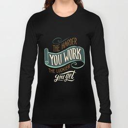 Best hard work design online Long Sleeve T-shirt