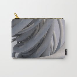White Spiral Carry-All Pouch