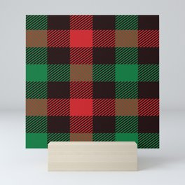 scotish red green pattern Mini Art Print