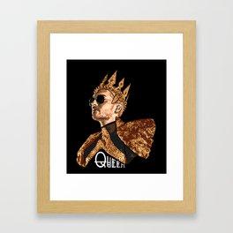 Queen Bill - White Text Framed Art Print