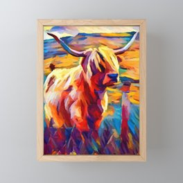 Highland Cow 4 Framed Mini Art Print