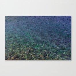 Colorful Transparent Blue and Aqua Sea On Crete Canvas Print