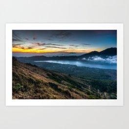 Batur Indonesia HDR Art Print