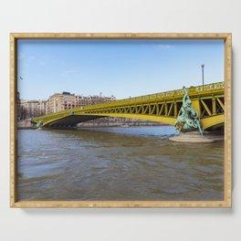 Pont Mirabeau over the Seine - Paris Serving Tray