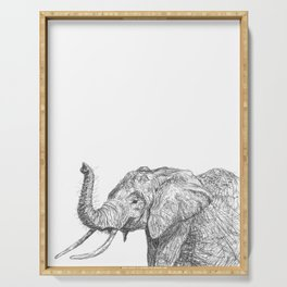 Easy-Going Elephant Serving Tray