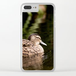 Female Mallard Duck Clear iPhone Case